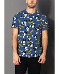 Forever 21 Blue Classic Mickey Mouse Tee for men