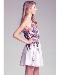 Bebe - Multicolor Multi Keyhole Printed Dress - Lyst