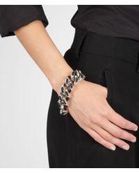 Bottega Veneta - Metallic Nero Intrecciato Nappa Intreccio Svanito Silver Bracelet - Lyst