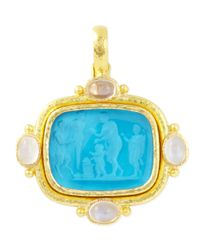Elizabeth Locke | Blue Pan Picnic Antique 19k Gold Intaglio Pendant | Lyst