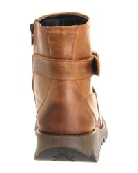Fly London | Brown Sake Buckle Ankle Boot | Lyst