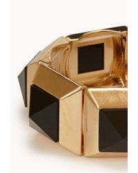 Forever 21 - Metallic Faux Gemstone Geo Bracelet - Lyst