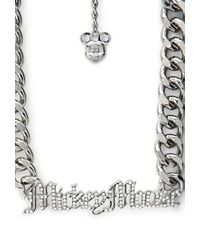 Forever 21 - Metallic Statement Making Mickey Mouse Necklace - Lyst