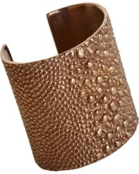 Givenchy - Pink Vintage Rose Gold Shagreen Textured Cuff - Lyst