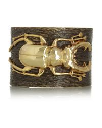 Iam By Ileana Makri | Metallic Beetle Goldplated Oxidized Brass Cuff | Lyst