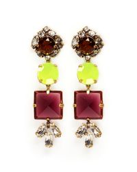 J.Crew | Multicolor Glass Mix Earrings | Lyst