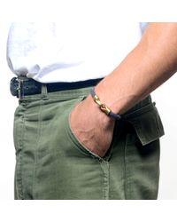 Lulu Frost - Blue George Frost Harpoon Bracelet Navybrass for Men - Lyst