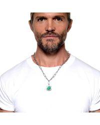 Lulu Frost | Metallic George Frost Bullet Shield Necklace White Bronze for Men | Lyst