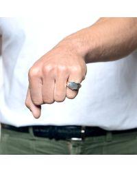 Lulu Frost   Metallic George Frost Bullet Shield Ring White Bronze for Men   Lyst