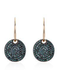 Monica Vinader | Ava Blue Diamond Pave Earrings | Lyst
