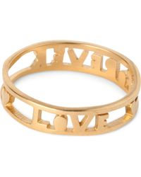Tatty Devine Metallic Forever Love Ring