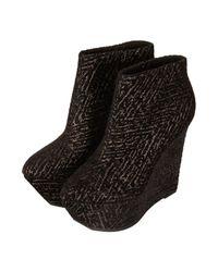 TOPSHOP - Metallic Attik Platform Wedge Boots - Lyst