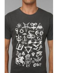Urban Outfitters | Black Obey Secrets Tee for Men | Lyst