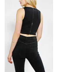 Urban Outfitters - Black Coincidence Chance Checkerboard Cropped Top  - Lyst