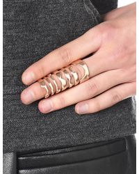 Bjorg | Pink Rose Gold Bric-a-braque Ring | Lyst