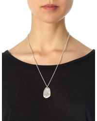Bjorg | Metallic Silver Missing You Pendant | Lyst