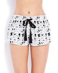 Forever 21 Black Mickey Moments Pj Shorts