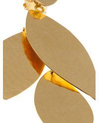 Herve Van Der Straeten - Gray Boucles Clip Earring - Lyst