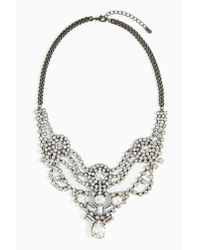 Nasty Gal - Metallic Opulence Crystal Necklace - Lyst
