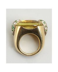 Pomellato - Metallic Citrine Emerald and Diamond Estate Ring - Lyst
