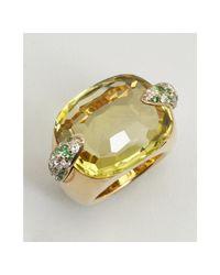 Pomellato - Metallic Citrine Emerald and Diamond Estate Ring - Lyst
