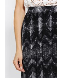 Urban Outfitters | Black Ecote Easy Knit Maxi Skirt | Lyst