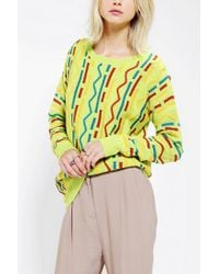 Urban Outfitters | Yellow Coincidence Chance Primary Intarsia Sweater | Lyst