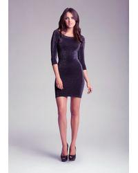Bebe Black Lace Strapless Midi Dress
