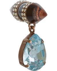 Givenchy | Blue Obsidian Double Cone Crystal Drop Earrings | Lyst