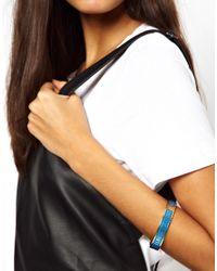 ALDO Love Moschino Skinny Blue Logo Bracelet