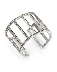 St. John - Metallic Crystal Cuff Bracelet - Lyst