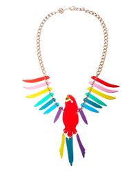 Tatty Devine | Multicolor Large Parakeet Necklace | Lyst