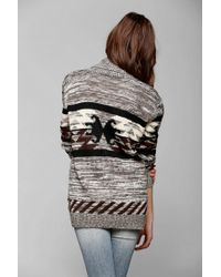 Urban Outfitters | Gray Love Madly Fair Isle Cardigan | Lyst