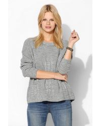 Urban Outfitters | Gray Love Madly Mixedstitch Sweater | Lyst
