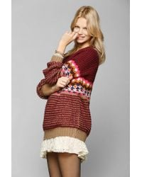 Urban Outfitters - Brown Coincidence Chance Right Fair Isle Sweater - Lyst