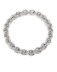 Eddie Borgo Metallic Pavé Link Necklace/silvertone