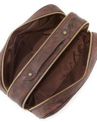 Robert Graham - Brown Hess Braided Leather Toiletry Kit for Men - Lyst