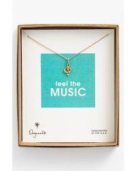 Adina Reyter | Metallic Pave Diamond Disc Pendant Necklace | Lyst