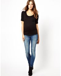 ALDO Black New Look Maternity Ruched Sleeve Top