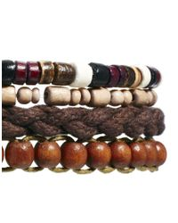 ASOS - Brown Beaded Bracelet Pack for Men - Lyst
