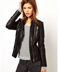 ASOS Black Asos Leather Biker Jacket