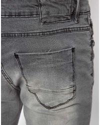 ASOS River Island Skinny Fit Jeans in Gray for men