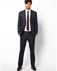 ASOS River Island Slim Fit Pants in Gray Melange for men