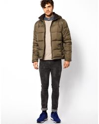 ASOS | Natural River Island Quilted Bomber Jacket for Men | Lyst