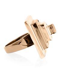Eddie Borgo - Pink Block Pyramid Ring Rose Golden Size 7 7 - Lyst