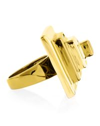 Eddie Borgo | Block Pyramid Ring, Yellow Golden | Lyst