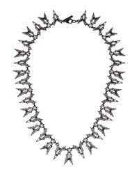 Eddie Borgo Black Fractured Heart Collar Necklace