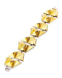 Eddie Borgo | Yellow Pyramid Stud Bracelet | Lyst