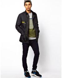 G-Star RAW Black Barbour Padded International Jacket for men