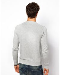 Gloverall Gray Hilfiger Denim Sweater with V Neck for men